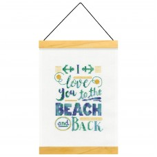 Counted Cross Stitch Kit: Banner: Beach and Back