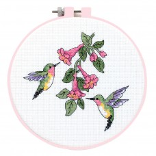 Learn-a-Craft: Counted Cross Stitch Kit with Hoop: Hummingbird Duo