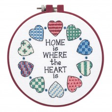Learn-a-Craft: Stamped Cross Stitch Kit with Hoop: Home and Heart