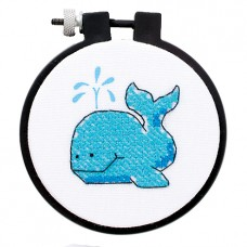 Learn-a-Craft: Stamped Cross Stitch Kit with Hoop: The Whale