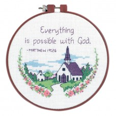 Learn-a-Craft: Counted Cross Stitch Kit with Hoop: Everything Is Poss
