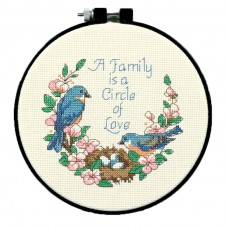 Learn-a-Craft: Counted Cross Stitch Kit: Family Love
