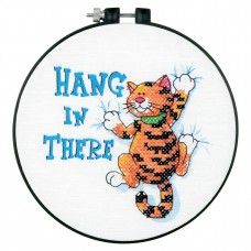 Learn-a-Craft: Stamped Cross Stitch Kit and Hoop: Hang in There
