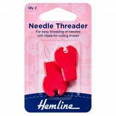 Needle Threader: with Cutter