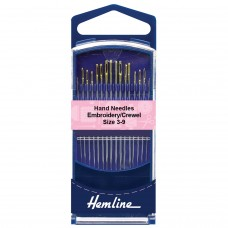 Hand Sewing Needles: Premium: Embroidery/Crewel: Size 3-9
