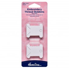 Embroidery Thread Bobbins: Paper: 50 Pieces