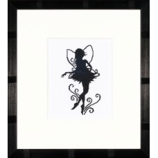 Counted Cross Stitch Kit: Cute Little Fairy Silhouette (Evenweave)