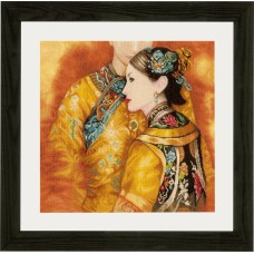 Counted Cross Stitch Kit: Asian Couple (Evenweave)