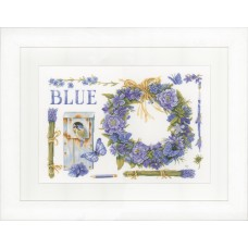 Counted Cross Stitch Kit: Lavender Wreath (Evenweave)
