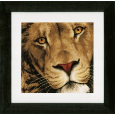 Counted Cross Stitch Kit: King of Animals (Evenweave)