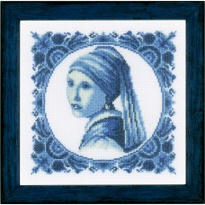 Counted Cross Stitch Kit: Girl with a Pearl