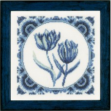 Counted Cross Stitch Kit: Delft Tulips