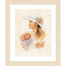 Lady with Hat (Linen)