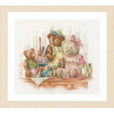 Counted Cross Stitch Kit: Bears and Toys (Aida)