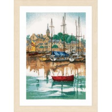 Counted Cross Stitch Kit: Sunrise at Yacht Harbour