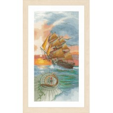 Counted Cross Stitch Kit: On a Discovery Travel
