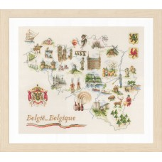Counted Cross Stitch Kit: Map of Belgium