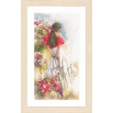Counted Cross Stitch Kit: In the Fields (Linen)