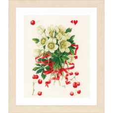 Counted Cross Stitch Kit: A Hellebores Gift (Evenweave)