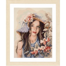Diamond Painting Kit: Little Girl with Hat