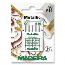 Sewing Machine Needles: Metallic Embroidery: 5 x Size 90/14: 5 Cards