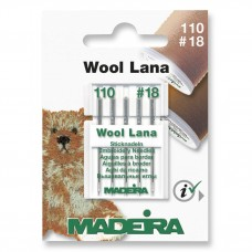 Sewing Machine Needles: Wool Lana Embroidery: 5 x Size 110/18: 5 Cards