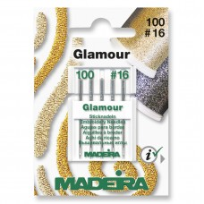 Sewing Machine Needles: Glamour & Decora Embroidery: 5 x Size 110, No.16: 5 Cards