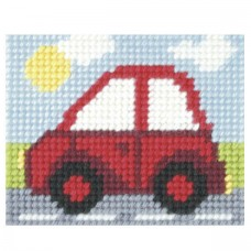 Needlepoint Kit: My First Embroidery: Little Red Car