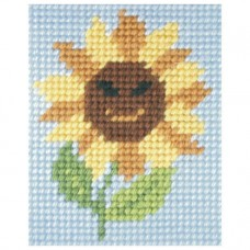 Needlepoint Kit: My First Embroidery: Sunny Sunflower