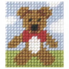 Needlepoint Kit: My First Embroidery: Teddy