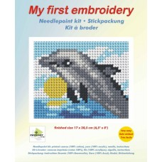 Needlepoint Kit: My First Embroidery: Dolphin