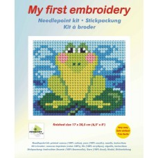 Needlepoint Kit: My First Embroidery: Frog