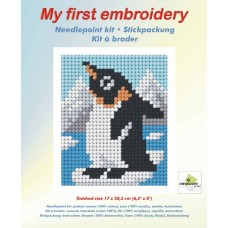 Needlepoint Kit: My First Embroidery: Baby Penguin