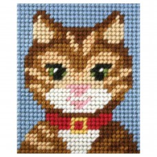 Needlepoint Kit: My First Embroidery: Tabby Cat
