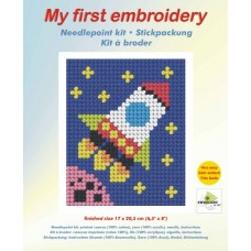 Needlepoint Kit: My First Embroidery: Rocket