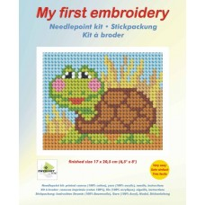 Needlepoint Kit: My First Embroidery: Tortoise