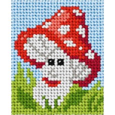 Needlepoint Kit: My First Embroidery: Toadstool