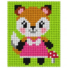 Needlepoint Kit: My First Embroidery: Fox