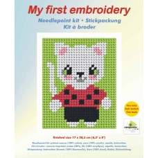 Needlepoint Kit: My First Embroidery: Cat