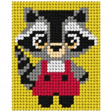 Needlepoint Kit: My First Embroidery: Racoon
