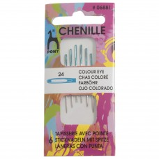 Hand Sewing Needles: Chenille: Colour-Coded Eye: Size 24