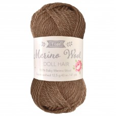 Yarn for Doll Hair: Brown: 12.5g