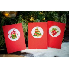 Counted Cross Stitch Kit: Greeting Cards: Christmas: Set of 3