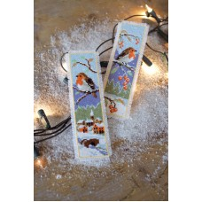 Counted Cross Stitch: Bookmark: Robins: Set of 2