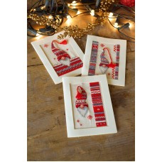 Counted Cross Stitch Kit: Cards: Christmas Elf: Set of 3