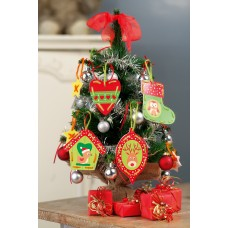 Embroidery Kit: Cards: Christmas Decorations: Set of 2