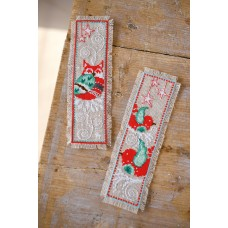 Counted Cross Stitch Kit: Bookmarks: Winter Scenes: (Set of 2)