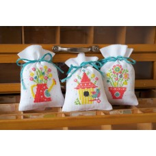 Counted Cross Stitch: Pot-Pourri Bags: Spring: (Set of 3)