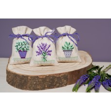 Counted Cross Stitch Kit: Pot-Pourri Bags: Provence: Set of 3