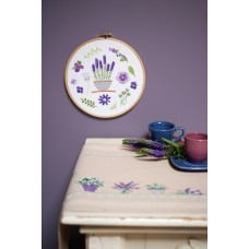 Embroidery Kit with Ring: Lavender